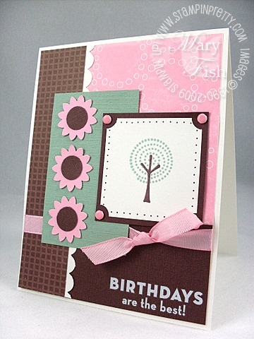 Stampin up trendy trees mojo monday 85