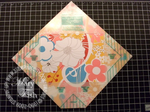 Stampin up envelope template 5