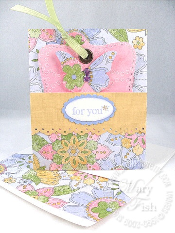 Stampin up tea party top note gift certificate