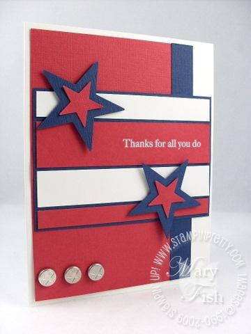 Stampin up patriotic star card 1