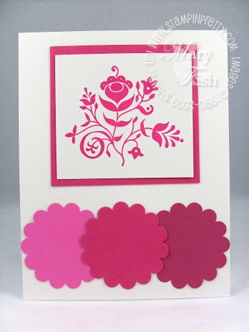 Stampin up in color melon mambo