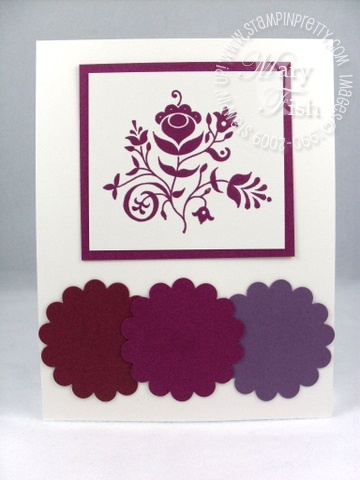 Stampin up in color rich razzleberry