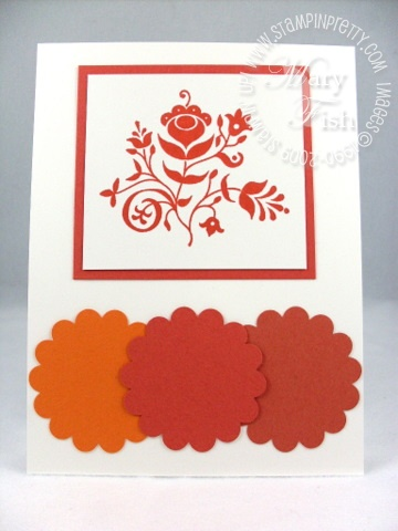 Stampin up in color dusty durango
