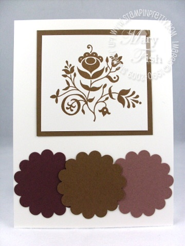 Stampin up in color soft suede