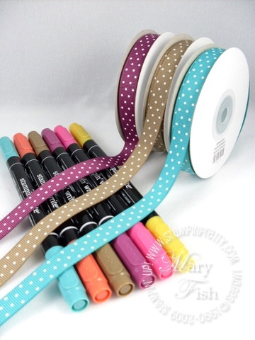 Stampin up in color ribbon