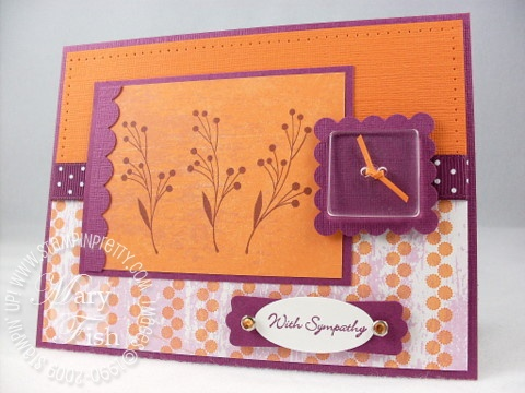 Stampin up autumn days razzleberry lemonade