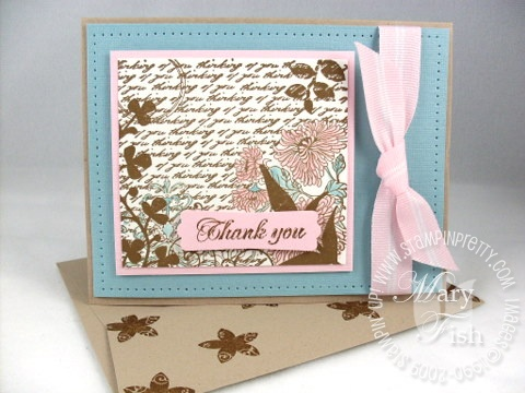 Stampin up fresh cuts kraft envelope