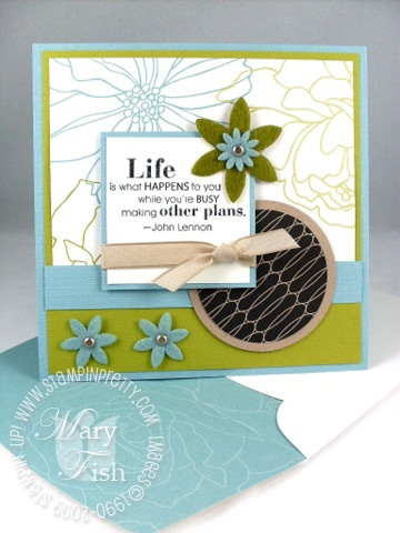 Stampin up urban oasis full of life