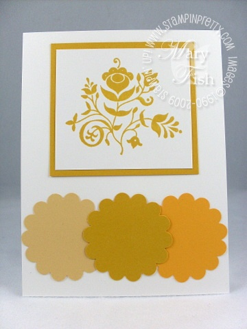Stampin up in color crushed curry