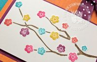 Stampin up eastern blooms in colors dry embossed