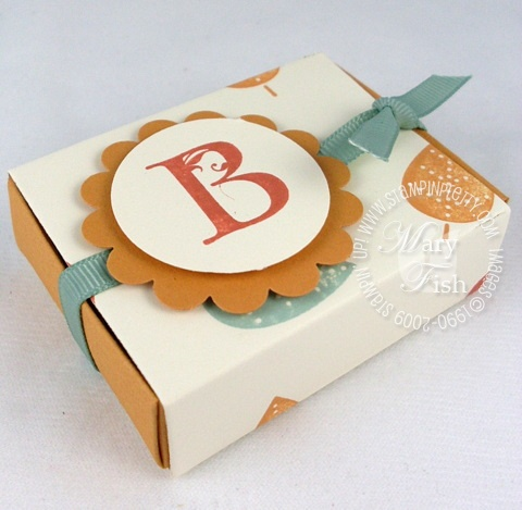Stampin up lovely letters matchbox die
