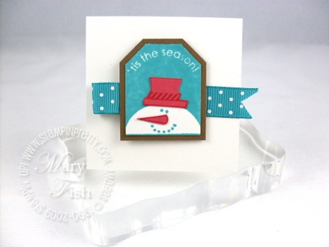 Stampin up christmas punch snowman