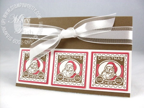 Stampin up christmas punch santa postage stamp