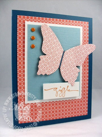 Stampin up warm words butterfly die