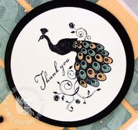 Stampin up very thankful peacock