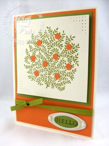 Stampin up pendant park orange tree