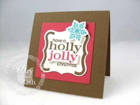 Stampin up christmas punch holly jolly
