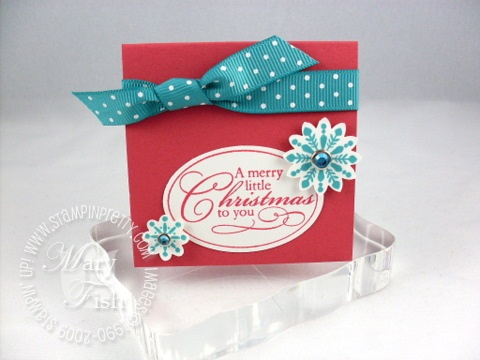 Stampin up christmas punch merry little christmas