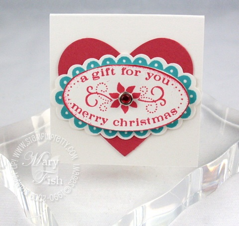 Stampin up christmas punch gift for you