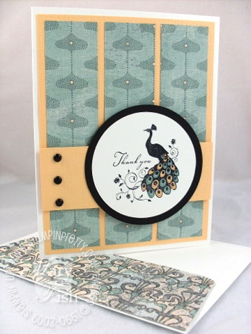 Stampin up very thankful peacock mojo monday