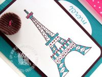 Stampin up chic boutique eiffel tower