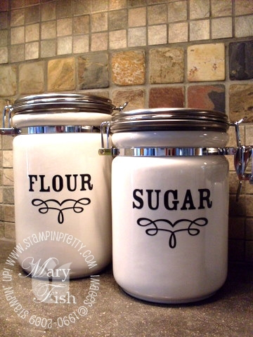 Stampin up decor elements dry goods flour and sugar