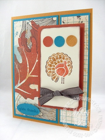 Stampin up gobble gobble splitcoast stampers sketch