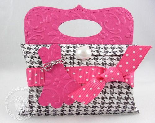 Stampin up pretties pillow box purse