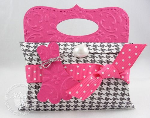 Stampin up pretties pillow box purse