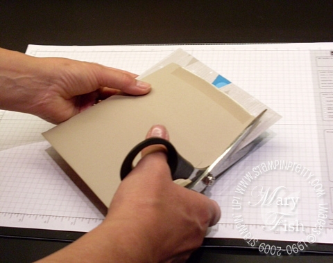 Stampin up envelope flap tutorial 3