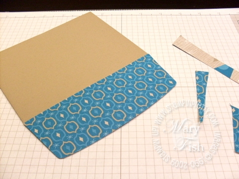 Stampin up envelope flap tutorial 4