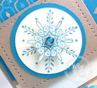 Stampin up serene snowflakes paper piercing