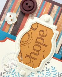 Stampin up tres chic hope