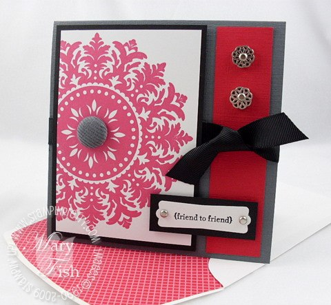 Stampin up real red medallion