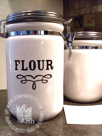Stampin up decor elements dry goods flour