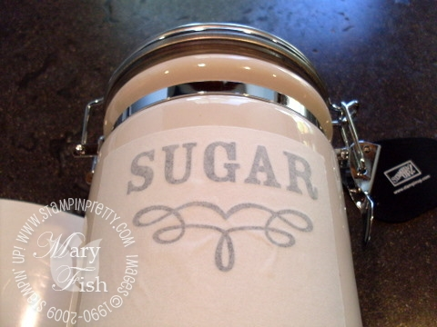 Stampin up decor elements sugar applied