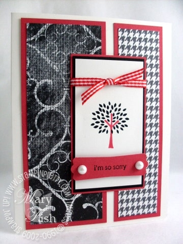 Stampin up trendy trees night and day specialty paper