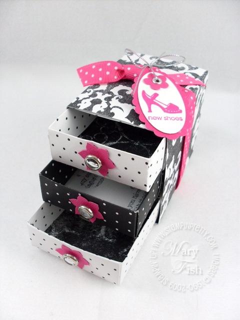 Stampin up pretties matchbox drawers