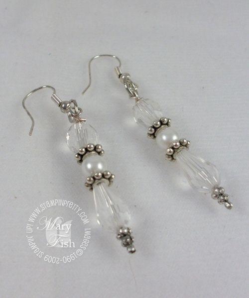 Stampin up pretties earrings