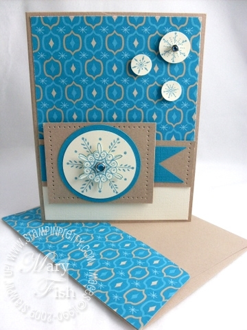 Stampin up mojo monday serene snowflakes