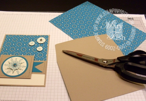 Stampin up envelope flap tutorial 1
