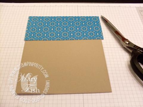 Stampin up envelope flap tutorial 2