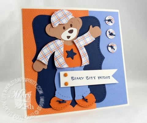 Stampin up build a bear bigz die