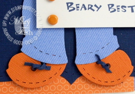 Stampin up build a bear shoe laces