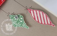 Stampin up christmas greetings ornaments