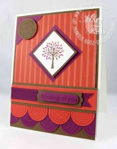 Stampin up mojo monday trendy trees