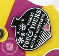 Stampin up gift card merry and bright rubons