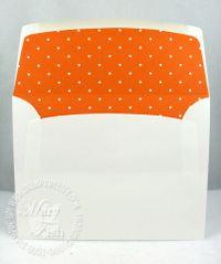 Stampin up pumpkin pie designer series paper lined envelope