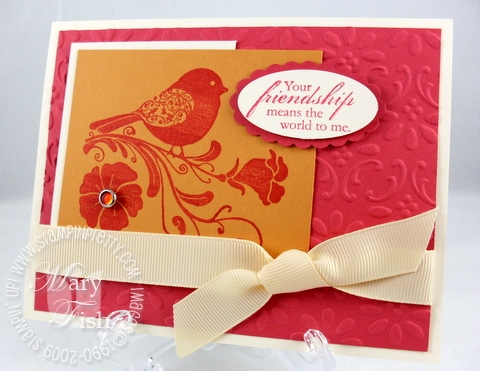Stampin up wings of friendship