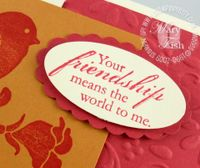 Stampin up wings of friendship closeup